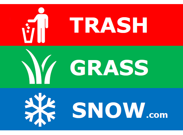 Trash, Grass, and Snow